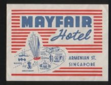 Hotel label luggage labels  Singapore  scarce  #hot596